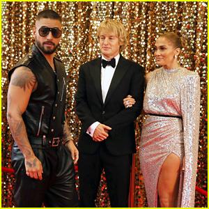 Jennifer Lopez & Owen Wilson Film a Red Carpet Scene for 'Marry Me' with Maluma!