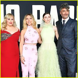 Scarlett Johansson & Taika Waititi Join 'Jojo Rabbit' Cast at L.A. Premiere!