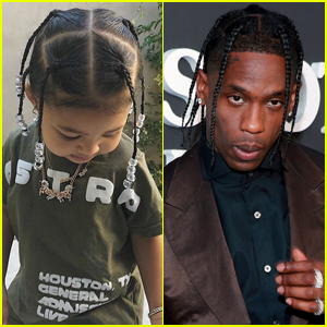 Travis Scott Shares Cute Photos of Daughter Stormi Rocking 'Daddy's Hair'