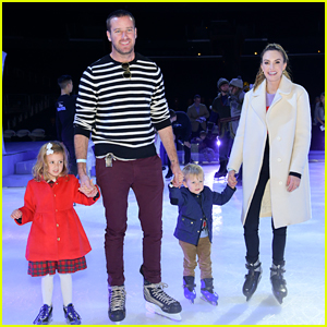 Armie Hammer & Elizabeth Chambers Take Their Kids to Disney on Ice!