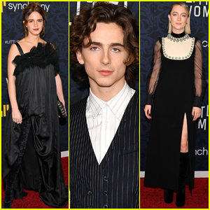 Emma Watson, Timothee Chalamet, & Saoirse Ronan Attend 'Little Women' Premiere in NYC!
