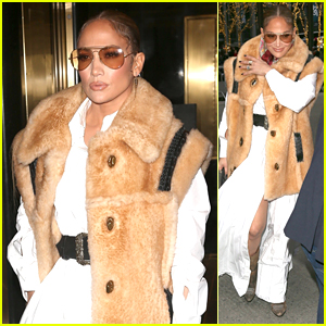 Jennifer Lopez Looks Fashionable in NYC Ahead of 'SNL' Hosting Gig!