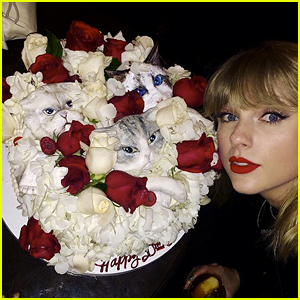 Taylor Swift's Birthday Cake Featured Her Three Cats' Faces!