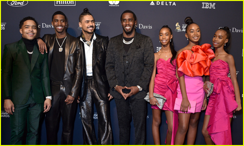 Diddy is Joined by All Six Kids While Being Honored at Clive Davis' Pre-Grammys Gala!