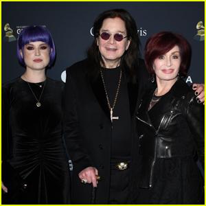 Kelly Osbournes Joins Parents Ozzy & Sharon Osbourne at Clive Davis' Pre-Grammys Gala