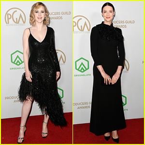 Rachel Brosnahan & Caitriona Balfe Go Pretty in Black for Producers Guild Awards 2020