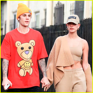 Justin Bieber & His Clean-Shaven Face Spend Quality Time with Wife Hailey