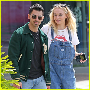 Sophie Turner Looks Cute in Overalls for Smoothie Run with Joe Jonas