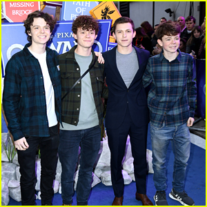 Tom Holland Brings His Brothers To 'Onward' Premiere in London