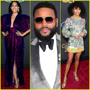 Tracee Ellis Ross, Anthony Anderson, & Yara Shahidi Step Out for NAACP Image Awards 2020