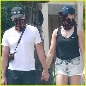 Alison Brie & Husband Dave Franco Hold Hands & Wear Matching Masks During Walk