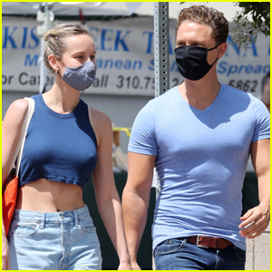 Brie Larson & Boyfriend Elijah Allan-Blitz Color Coordinate for Trip to Farmer's Market
