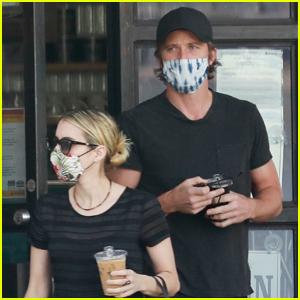 Emma Roberts & Boyfriend Garrett Hedlund Pick Up Their Saturday Morning Coffee