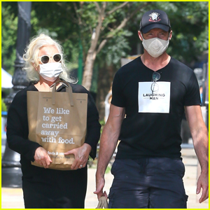 Hugh Jackman & Wife Deborra Lee Furness Go Grocery Shopping Together in NYC