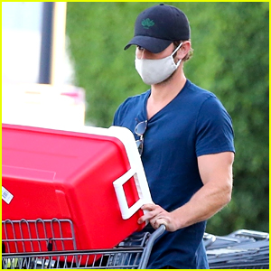 Chace Crawford Stocks Up on Groceries & a Cooler
