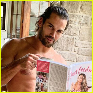 Eric Decker Ditches His Clothes to Promote Wife Jessie's New Cookbook!