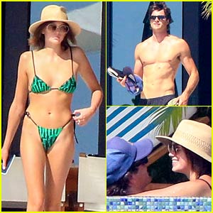 Kaia Gerber & Jacob Elordi Pack on PDA During a Vacation with Her Parents!