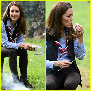 Duchess Kate Middleton Roasts Marshmallows with Scouts!