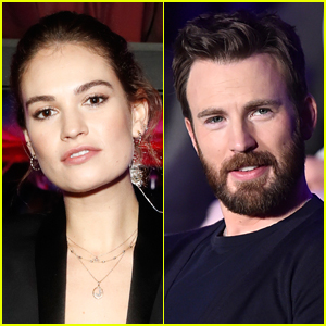 Here's What Happened When Lily James Was Asked About Chris Evans
