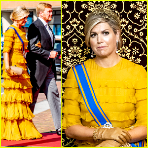 The Netherlands' Queen Maxima Rewears Yellow Dress For Official Socially Distanced Parliament Opening