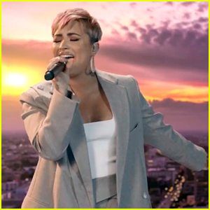 Demi Lovato Is Joined By Healthcare Workers Singing 'Lovely Day' During 'Celebrating America'