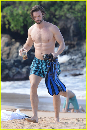 Patrick Schwarzenegger Shirtless Snorkeling in Maui