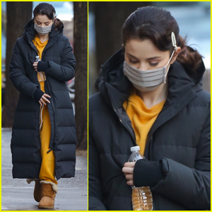 Selena Gomez Bundles Up While Arriving on Set of 'Only Murders In The Building'