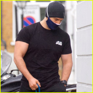 Henry Cavill Shows Off Massive Biceps Taking Dog Kal for a Walk