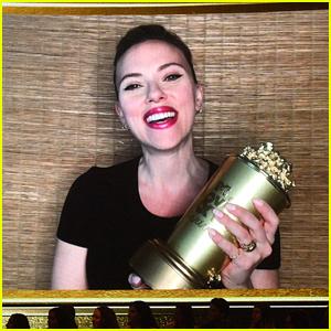 Scarlett Johannsson Gets Slimed By Husband Colin Jost After Winning at MTV Movie & TV Awards!