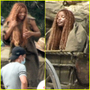 See Halle Bailey In Character as Ariel in 'Little Mermaid' Set Photos!