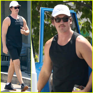 Miles Teller Puts His Muscles On Display as He Heads to a Workout in LA
