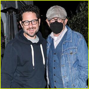 Movie Directors J.J. Abrams & Steven Spielberg Spotted Having a Dinner Meeting!