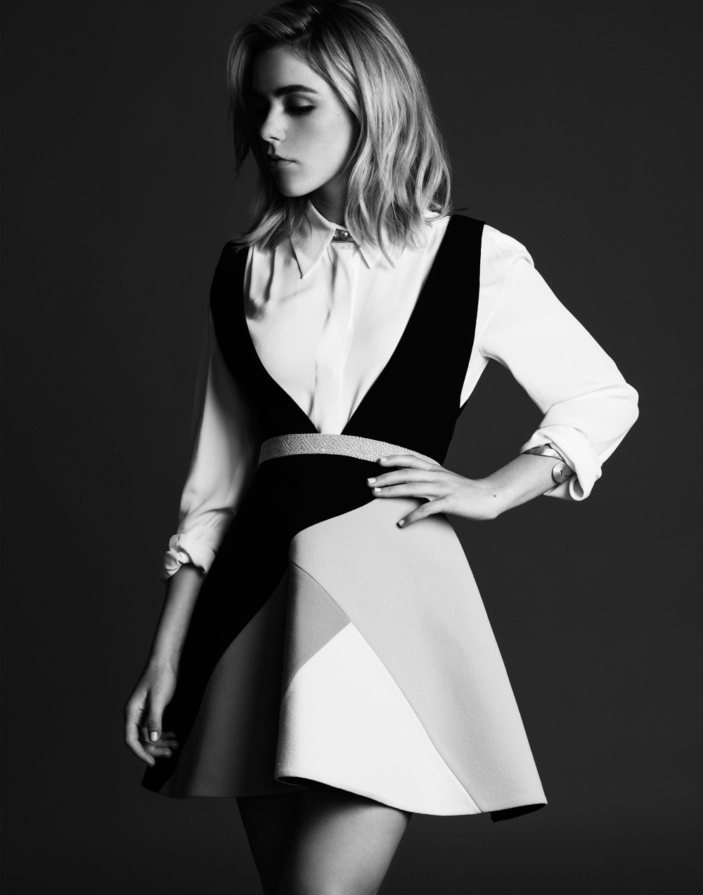 Kiernan Shipka in Black and White