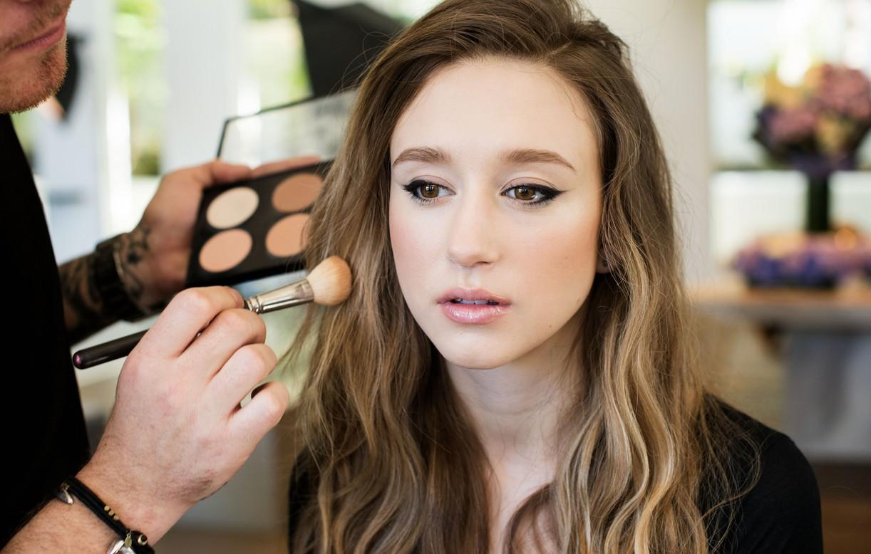 Taissa Farmiga Behind the Scenes blush makeup